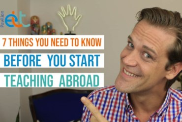 Screenshot from vlog 7 Things You Need to Know Before You Start Teaching Abroad by Rubens Heredia